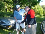 Jim Explaining Gears to Ed on New Bike