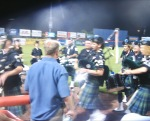 """Bagpipes and Drums Play """"Take Me Out to the Ballpark"""""""