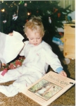 I think he still makes that face when he gets a book for a gift.