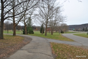 Looking south into Otsiningo Park where some TCRC races take place