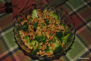 Walnut & Cranberry Broccoli Salad
