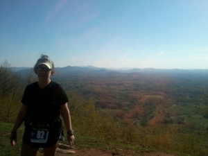 Me at the top of Roanoke Mountain, taken by a volunteer