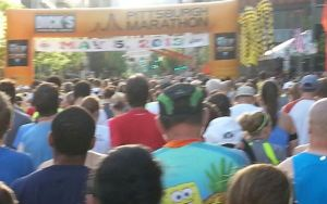 Start Line. Taken from Marcela's phone.