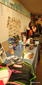 The Goodie Table - Items were the raffle winnings.