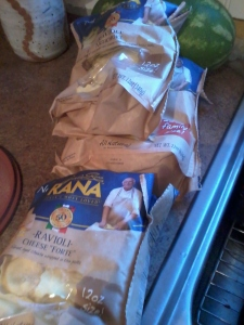 Giovanni Rana Pasta waiting to be cooked