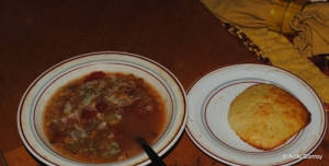 Soup and a drop biscuit