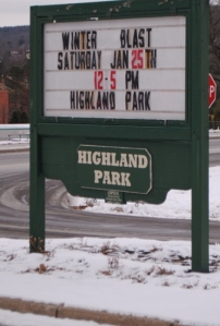 Highland Park encouraged outdoor activities - skating, sleighing.