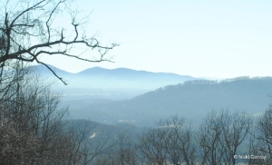 Photo of the Blue Ridge Mountains, March 2014