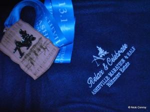 Fleece Blanket and Wood Medal