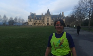 In front of the mansion on the Biltmore Estate