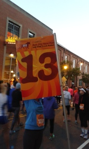 Taken pre-race as I wouldn't think to take it at mile 13.