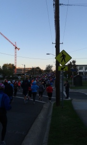 Somewhere shortly after mile 1