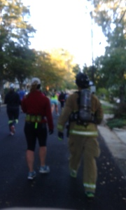 13.1 miles dress in turnout gear is amazing.