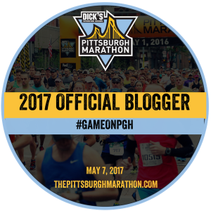 Pittsburgh Marathon Blogger Badge